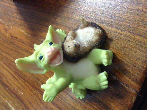 Hedge Hogs Joke Pocket Dragon by Real Musgrave's Whimsical World of Pocket Dragons