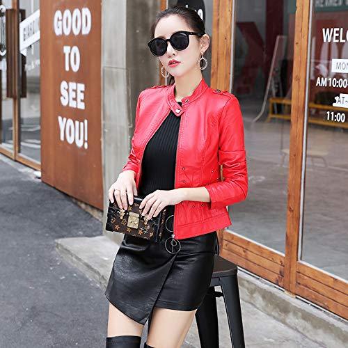 D'hiver Femme Vêtements Veste Pour Femmes Femme Chaude Red Lavée Et Liuxc D'automne Décontractée Confortable 7RIq11