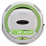 Infinuvo QQ 200 White Robot Vacuum - Sweeping, Vacuuming, Sterilizing 3-in-1 Cleaner for Cleaning Pet Hair, Dirt, Dust on Hard Floors. (White)