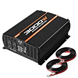 POTEK 3000W Power Inverter 4 AC Outlets 12V DC to 110V AC Car Inverter with 2 USB Port