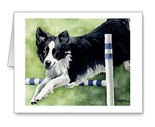 Border Collie Agility - Set of 10 Note Cards With Envelopes (Agility Border Collies)
