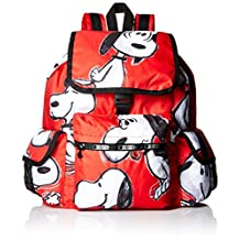 LeSportsac 7839 G072 Voyager Backpack, Snoopy Toss Red, One Size