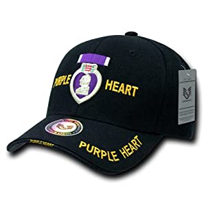 Rapiddominance Purple Heart The Legend Military Cap, Black by Rapid Dominance