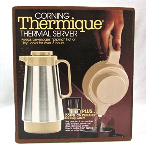 Corning Stainless Steel Thermique Thermal Server Coffee On Demand Brewing System by Corning
