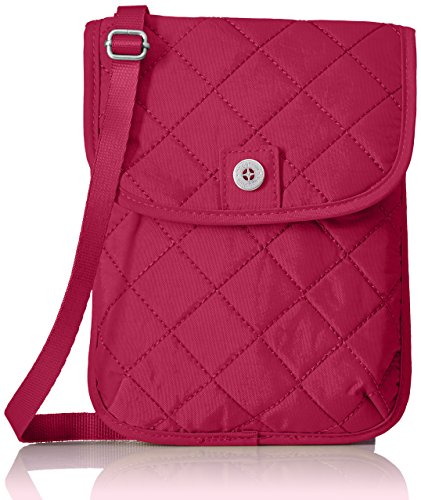 Baggallini Women's RFID Passport Crossbody, Fuchsia/Pink, One Size