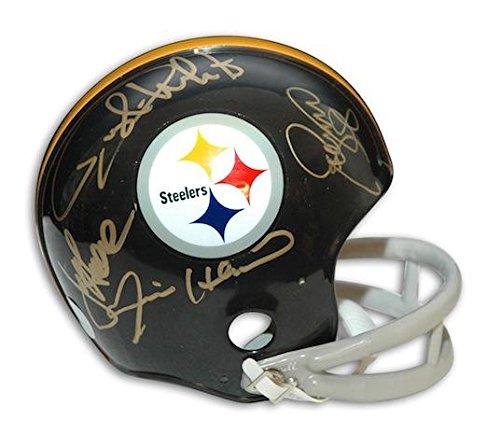 Steel Curtain Autographed Mini Helmet - Throwback - Autographed NFL Mini Helmets ()