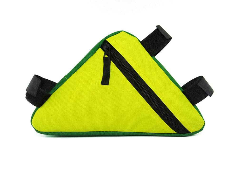 Yellow Bike Bicycle Cycling Rack Rear Bag Seat Rear Pouch Wedge Triangle Handlebar,Black