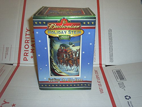 2002 BUDWEISER GUIDING THE WAY HOME HOLIDAY STEIN NEW IN BOX