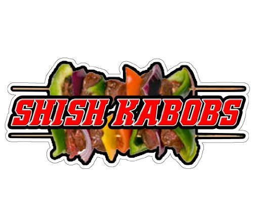 SHISH KABOBS Concession Decal Beef Kabob Sign Stand New ()