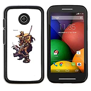 Elm Street Killer- Metal de aluminio y de plástico duro Caja del teléfono - Negro - Motorola Moto E / XT1021 / XT1022