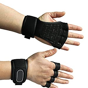 WALLER PAA Men Exercise Gaming Training Gloves Weight Lifting Gym Workout Wrist Wrap Strap