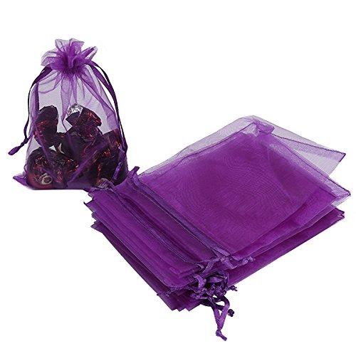 HRX Package 100pcs Organza Bags, 4