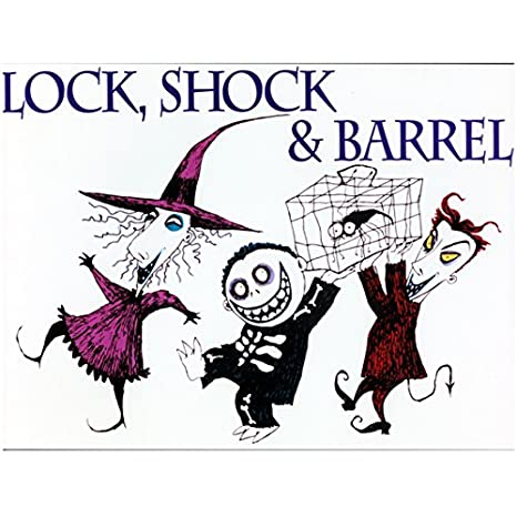 lock shock barrel 8x10 photo nightmare before christmas color sketch white background wlo - Barrel Nightmare Before Christmas