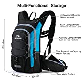 RUPUMPACK Insulated Hydration Backpack Pack with BPA Free 2L Water Bladder - Keeps Liquid Cool up to 4 Hours, Prefect Outdoor Gear for Hiking, Running, Cycling, Camping, Skiing, 15L