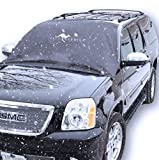 Car Windshield Cover for Winter Snow Removal- Magnetic Snow, Ice and Frost Guard - New 6x magnets Fits SUV, Truck & Car Windshields - Auto Windshield Snow Cover - Large over 5x6ft Great Barrier