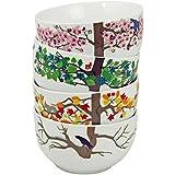 Puhlmann 4 Seasons Bowls, Multi-Colour, Set of 4