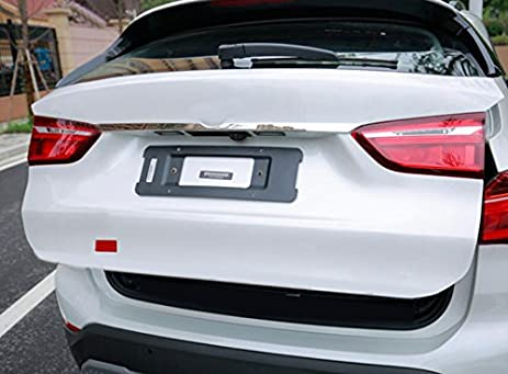 Stainless Rear Boot Trunk Lid Molding Cover Trim For BMW X1 F48 2016 2017