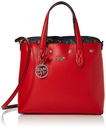 Piero Guidi Tote, Bolsos totes Mujer, Rojo (Rosso Papavero), 32x30x14 cm (W x H L)
