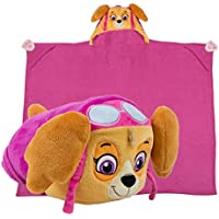 Comfy Critters Stuffed Animal Blanket – PAW Patrol Skye –...