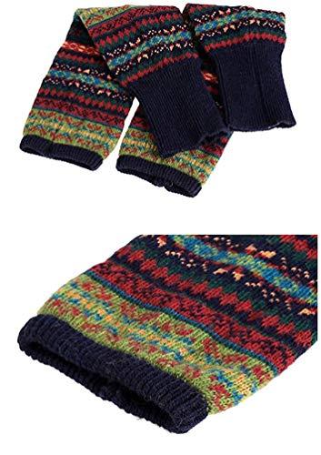 6f0fbbab615 Santwo Women Knee High Socks Winter Bohemian Boot Cuffs Knit Crochet Leg  Warmers