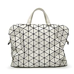 Diamond Lattice Geometry Foldable Handbags