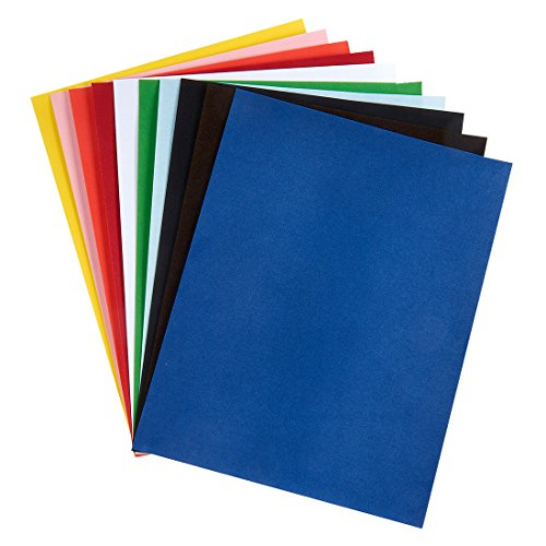 Hygloss 1185 Assorted Colors 10 Sheets Velour Paper by Hygloss