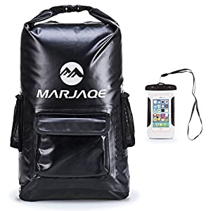 Toogou Waterproof Backpack – Dry Bag – Quality Heavy Duty – Padded Shoulder Straps – Mesh Side Pockets – Easy Access…