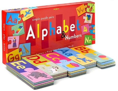 eeBoo Puzzle Pairs Alphabet Numbers product image