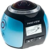 NXBasics XDV360 4K 360 Degree Camera 16M Ultra HD 220° Fisheye Wild-angle Lens Full HD 1440P 1080P Panorama Video Sport Action Camera Kit 3D VR (Blue)