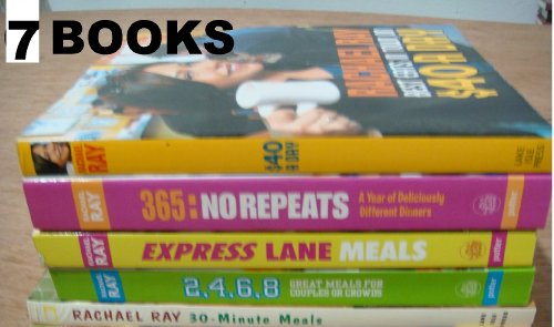 Rachael Ray's 6 Book Set: 30-minute Meals/2, 4, 6, 8: Great Meals/best Eats in Town on $40 a Day/express Lane Meals/365: No Repeats--a Year of Deliciously Different Dinners/ 30-minute Meals 2 /Big Orange Book: Her Biggest Ever Collection of All-new