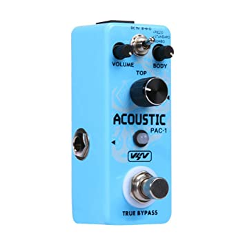 Lookthenbuy VSN Pac-1 - Pedal de simulador acústico para Guitarra eléctrica