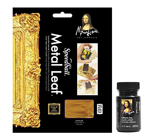 mona-lisa-metal-leaf-sheets-with-liquid-adhesive-water-based-gold