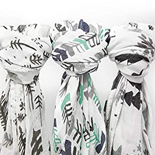 Muslin Swaddle Blankets, 3 Pack Large 47x47in Baby Blanket, Adventurer