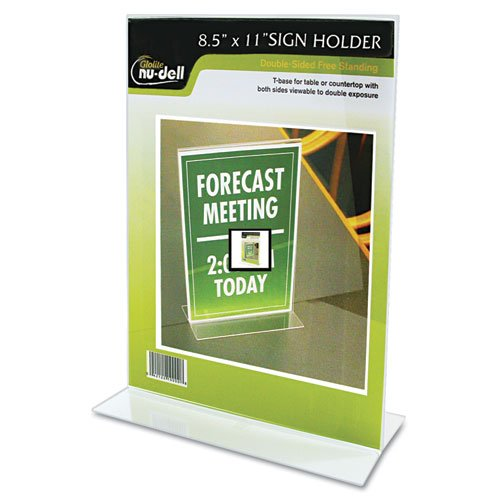 NuDell Clear Plastic Holder Stand Up
