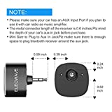 Bluetooth Receiver, ELECWAVE Bluetooth 4.2 Car Receiver & Car Aux Adapter for Music Streaming Sound System, Hands-Free Audio Adapter & Wireless Car Kits for Home/Car Audio Stereo, 3.5mm AUX in Only