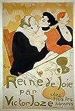 Photograph Description: Reine de Joie par Victor Joze Published: Paris : Imp. Edw. Ancort & Cie, 1892. Notes: Color poster by Henri de Toulouse-Lautrec, 1864-1901. Promotional goal: Fr. K91. 1892. Caption card tracings: I. Joze, Victor, 1861-. II...