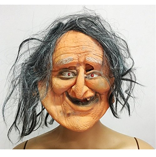 Hag Mask - mywaxberry Halloween festival costume party ugly old woman masks hag prank headgear