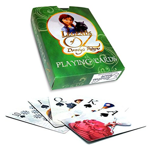 """Legends of Oz"" Movie Characters – 52 Card Poker Deck with Jokers-Legends Of Oz Playing Cards For Kids, Standard Game Cards, Fun Playing Deck Of Cards With Oz Characters."
