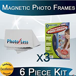 """Freez-a-frame 4"""" X 6"""" Magnetic School Locker Photo Frame 6 Pack + Photo4less Cleaning Cloth"""