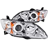 Anzo USA 121211 Mazda 3 Chrome Clear Projector With Halos Headlight Assembly - (Sold in Pairs) by AnzoUSA