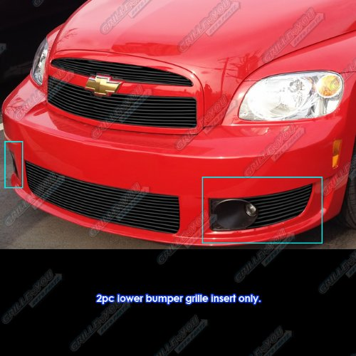 Billet Cover Inserts (Fits 2006-2010 Chevy HHR SS Fog Light Cover Black Billet Grille Grill Insert # C66943H)
