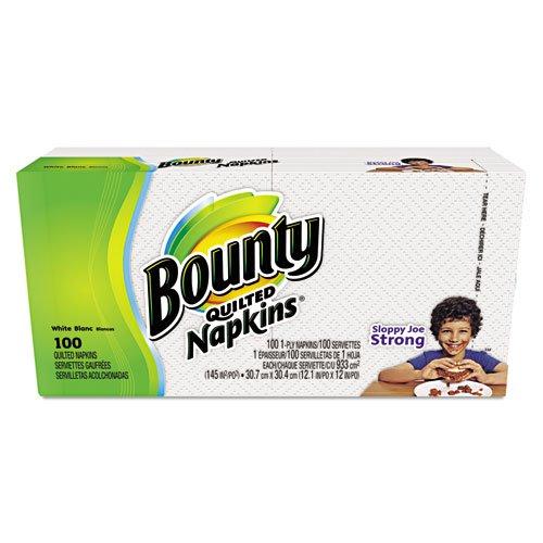 Bounty 34884pkキルト風ナプキン、1-ply、12.1 X 12、ホワイト、100 /パック B00PZ9SUKI