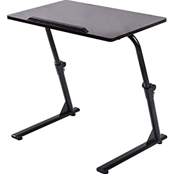 DPS&RXX Pie Plegable portátil Carrito, Sentarse Stand Desk móvil con Altura Ajustable ergonómico Mesa de