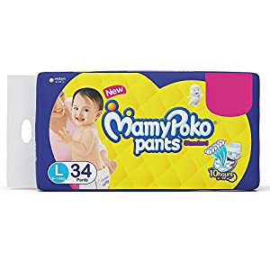 MamyPoko Standard Diaper Pants, Large (Pack of 34)