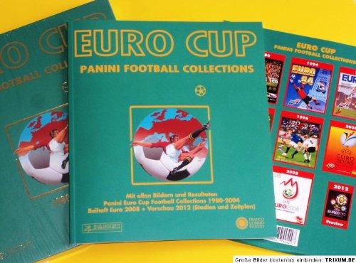 Euro Cup Panini Football Collections 1980-2004, m. Beiheft Euro 2008 + Vorschau 2012 (Stadien und Zeitplan)