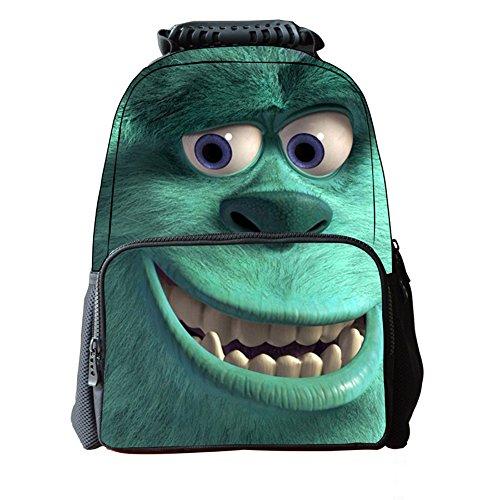 B-JOY 3D Tiere Rucksack Männer Frauen 3D Daypack Rucksack Schultasche-Laptop-Tasche 16 Toll (Delphin) Sullivan qno7X