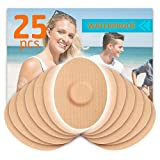 Fixic Patches 25 Pack for Enlite - Medtronic Guardian - Freestyle Libre - Waterproof Adhesive Patches - Best Fixation - Pre Cut - TAN Color
