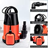 1HP Submersible Dirty Sump Pump 115V/60Hz, Clean