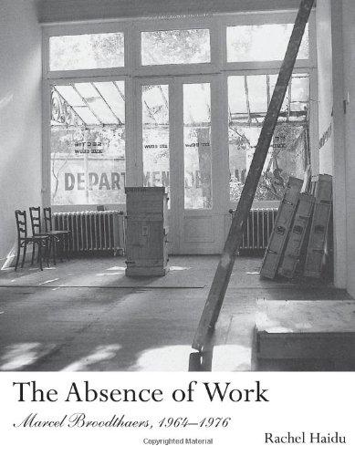 Download The Absence of Work: Marcel Broodthaers, 1964-1976 (October Books) pdf