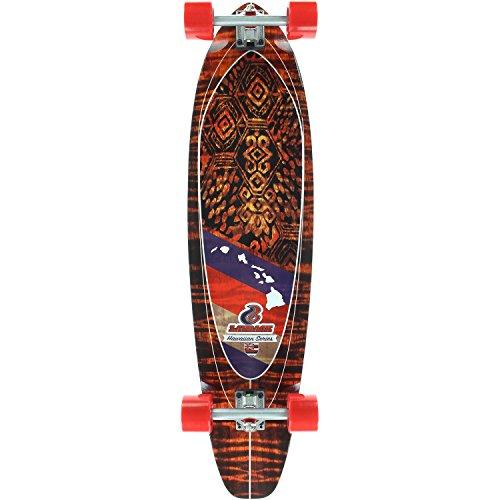 Layback Hawaiian Shaka Complete Skateboard -9.87x40 ()